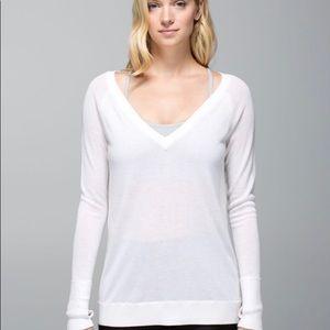 Lululemon Unity Pullover Heathered White
